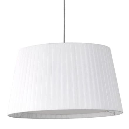 Astro 5002009 Tapered Round 400 Pleated Shade White